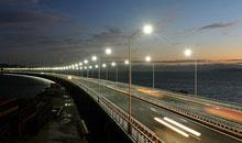 Installation of LED Streetlights In Both Traffic Intensive and Residential Streets In A city In New
